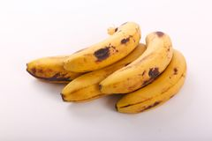 Fresh some bananas fruits. Fresh bananas fruits on white background stock image