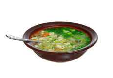 Fresh soup. In a dish Royalty Free Stock Image