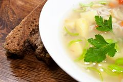 Fresh soup Royalty Free Stock Images