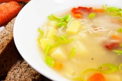 Fresh soup Royalty Free Stock Image