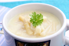 Fresh soup of asparagus Royalty Free Stock Photography