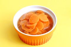 Fresh soup of carrots Stock Photos