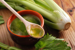 Fresh soup of celery Royalty Free Stock Photography