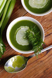 Fresh soup of celery Stock Images