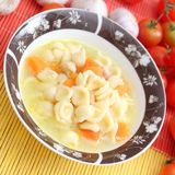 Fresh soup with chicken and noodles Stock Images