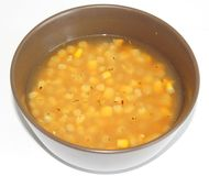 Fresh soup of corn Royalty Free Stock Photo