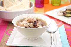 Fresh soup of cuttlefish Royalty Free Stock Photography