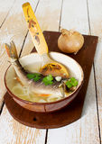 Fresh soup with fish Royalty Free Stock Photo