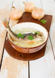 Fresh soup with fish Stock Image