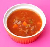 Fresh soup with meat Stock Photo