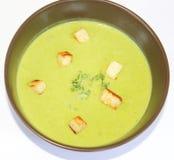 Fresh soup of peas Stock Photo