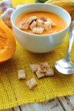 Fresh soup of pumpkins Stock Photography