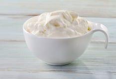 Fresh sour cream Stock Images