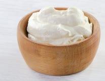 Fresh sour cream Royalty Free Stock Photos