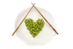 Fresh soybeans Stock Photos