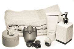 Fresh spa still life in neutral shades Stock Images