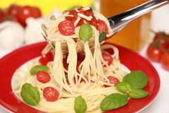 Fresh Spaghetti Stock Photography