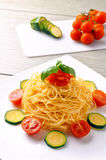 Fresh spaghetti dish Stock Photography