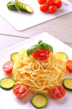 Fresh spaghetti dish Royalty Free Stock Photos