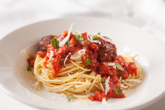Fresh spaghetti and meat sauce Royalty Free Stock Photo