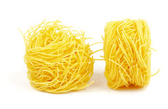 Fresh spaghetti noodles Stock Photo