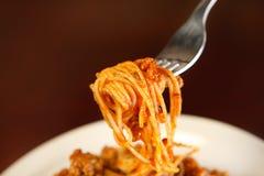 Fresh spaghetti Stock Photos