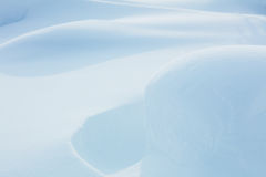 Fresh Sparkling Snow background - big snowdrifts Royalty Free Stock Photography