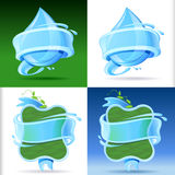 Fresh and Sparkling Water Label Set Stock Images