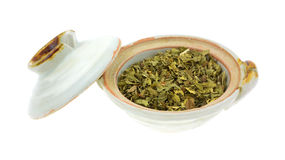 Fresh spearmint herb in a bowl Stock Image