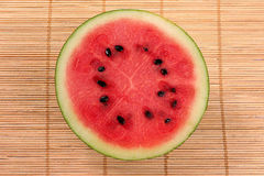 Fresh sphere water melon Stock Photo