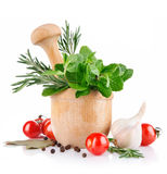 Fresh spice and vegetables Stock Photos