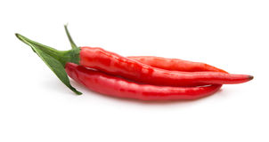 Fresh and spicy cayenne on white background Stock Image