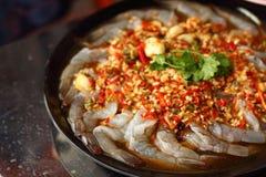 Fresh spicy  lime shrimp - asia food Royalty Free Stock Photos