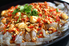 Fresh spicy  lime shrimp - asia food Stock Images