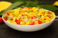 Fresh spicy mango salsa salad Royalty Free Stock Photo