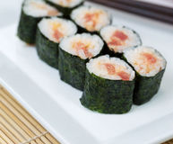 Fresh Spicy Tuna Hand Roll Sushi Stock Photography