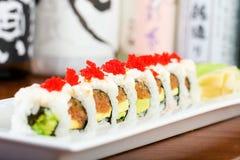 Fresh spicy tuna sushi roll Stock Photography