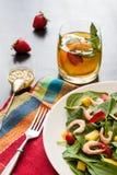 Fresh spinach fruit salad. Stock Image