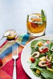 Fresh spinach fruit salad. Stock Photo