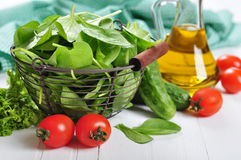 Fresh spinach leaves Stock Photos