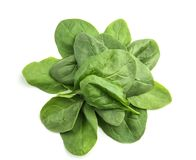 Fresh spinach leaves. On white background Royalty Free Stock Photography