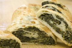 Fresh spinach roll Royalty Free Stock Photography