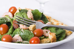 Fresh spinach salad Royalty Free Stock Image