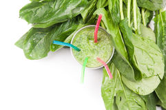 Fresh spinach smoothie Royalty Free Stock Photo