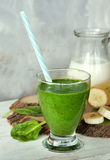 Fresh spinach smoothie Stock Photography