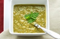Fresh Split Pea Soup Royalty Free Stock Photography
