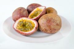 Fresh splited passion fruits Stock Photo