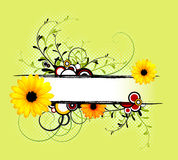 Fresh spring abstract floral background Stock Image