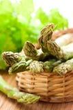 Fresh spring asparagus Stock Photos