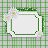 Fresh spring background with grass and flowers  eps 10 vec Stock Photos